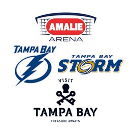 Partnership with the Tampa Bay Lightning, Tampa Bay Storm and The Amalie Arena